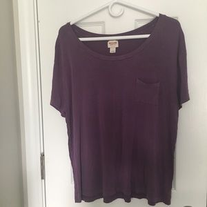 purple missimo pocket tee